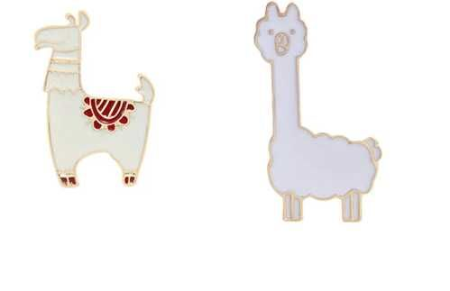 PIN WPINKA przypinka znaczek lama, dwa wzory