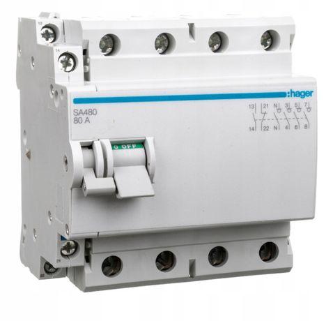 Rozłącznik modułowy 80A 4P + Wyzwalacz wzrostowy