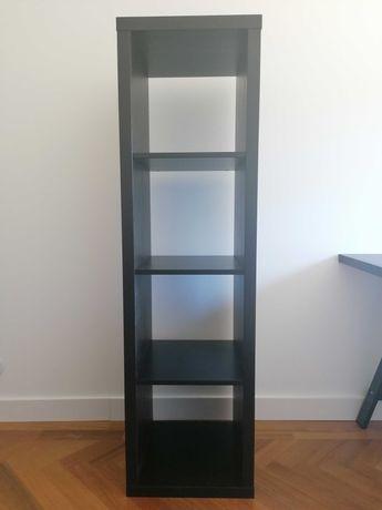 Estante Kallax preta -  42 x 147cm - IKEA