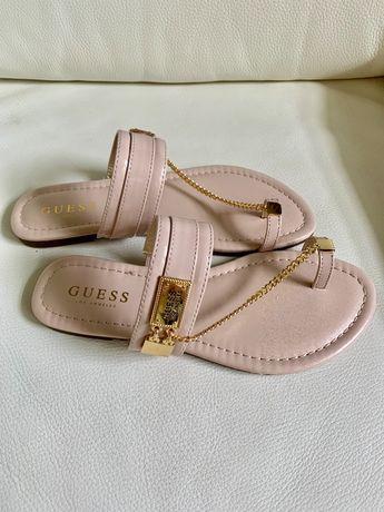 Guess logo NOWE sandalki damskie jasny roz, rozmiar 37, 38, 39