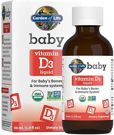 Garden of Life Baby Vitamin D3 детский жидкий витамин D3. 600 МЕ,56 мл