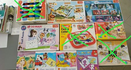 Sprzedam puzzle , kręgle,gry planszowe edukacyjne