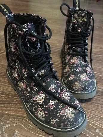 Ботинки цветочным принтом