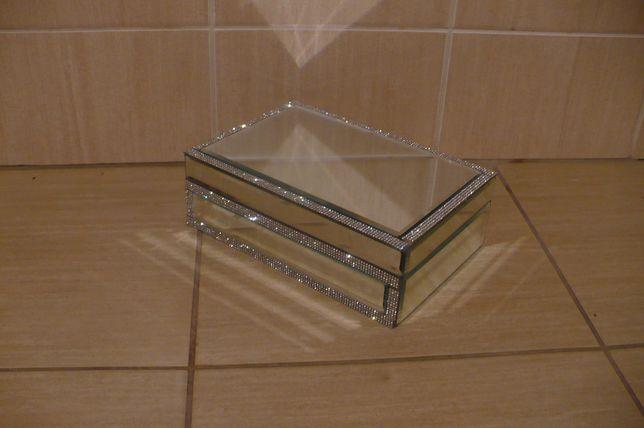 Nowa lustrzana szkatułka na biżuterię 24x16x8