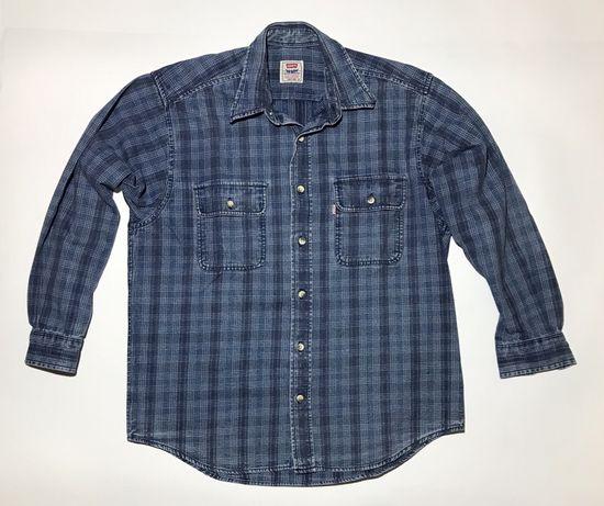Мужская винтажная , старая рубашка levi's