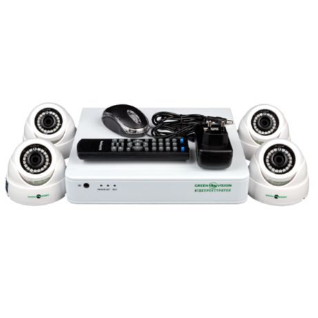 Комплект видеонаблюдения для дачи, дома, офиса (4 камеры)