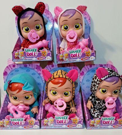 Lalka Lovely Doll z dźwiękiem, cry babies, przytulanka,różne-Hit,nowa