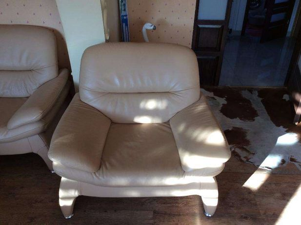 sofa x 2 plus fotel komplet skórzany