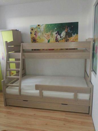 Łóżko piętrowe 3 osobowe góra 90 dół 120 cm na dowolny kolor