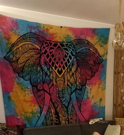 Chusta na ścianę Mandala - Słoń