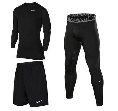 Комплект Nike 3 в 1 футболка, рашгард, , шорты, леггинсы.