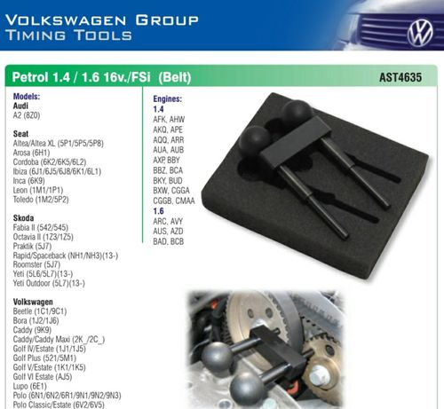 Ferramenta Ajuste Distribuição Audi/Seat/Skoda e Wolkswagen