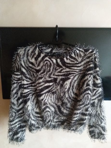 Укороченный свитер-травка в леопардовый принт бренда topshow