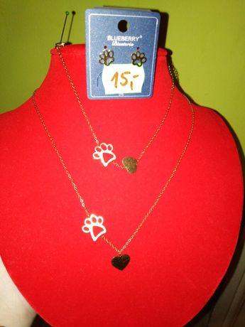 Psia łapka i serce biżuteria