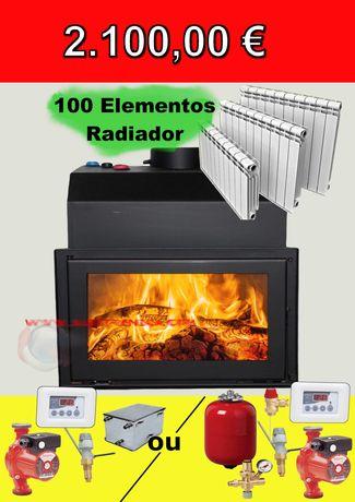 Kit Recuperador Aquecimento Central com 100 elementos Radiador