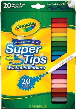 Маркеры крайола Crayola Washable Super Tip Marker Set, 20-Color