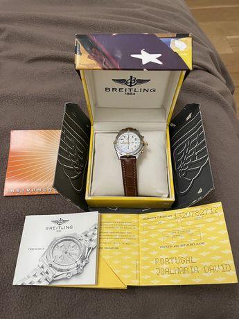 Relogio breitling cronomat aço e ouro e raymond weill modelo othelo.