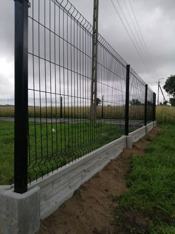Panel ogrodzeniowy 123 cm fi 4 + podmurówka 25 cm