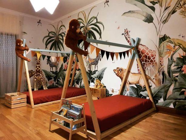 Cama de Criança tipo Tenda Tipi com estrado (Montessoriana)