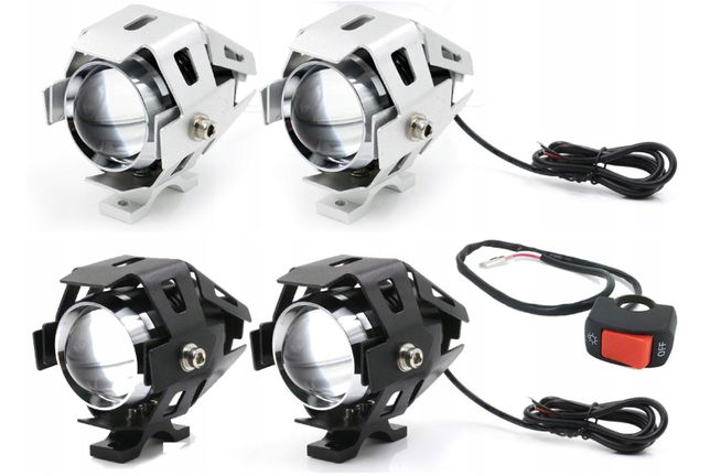 Halogeny motocyklowe lampy reflektory lightbar LED CREE U5 2 szt lampa