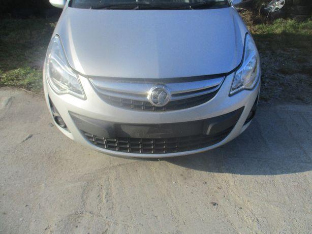 Opel Corsa D LIFT zderzak przedni przod kompletny z halogenami Z176