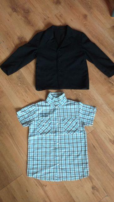 Czarna marynarka , koszula 7-8 lat