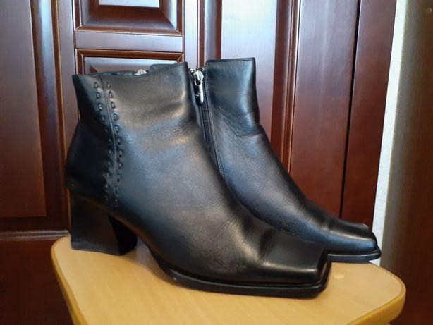 Ботинки женские осенние, кожаные