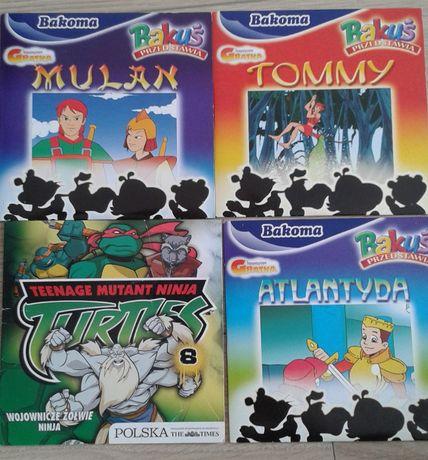 Bajki CD chłopięce dla dzieci komplet zestaw 4szt