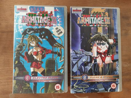 Anime Armitage 3 cz.1 i cz.2 VHS kasety video