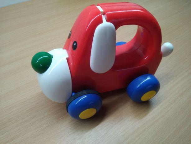 Первая машинка собачка пищалка для малыша 6+ месяцев