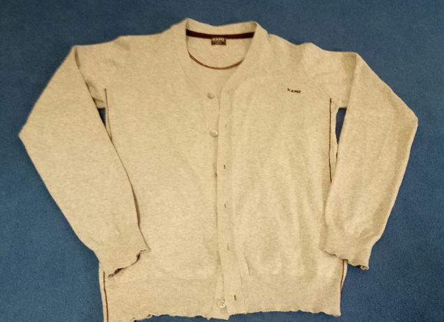Sweter chłopięcy rozpinany szary KANZ 152 cm 12 lat