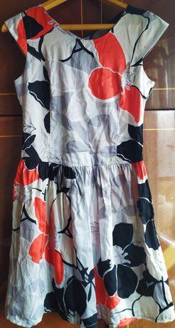 Летнее платье в цветах