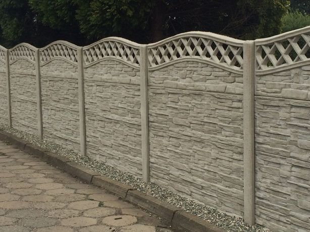 Ogrodzenie betonowe, płot betonowy o wys. 1,75 m