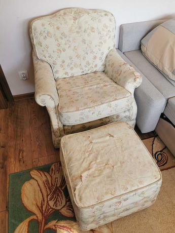 Fotel z podnóżkiem oddam