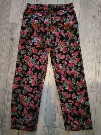 spodnie w kwiaciaste wzory - lato XL