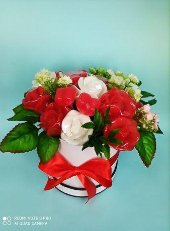 Мыльный букет, букет из мыльных роз, подарок на 8 марта