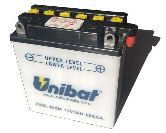 Akumulator Unibat CB5L-B YB5L-B 5Ah 65A 12V NOWY