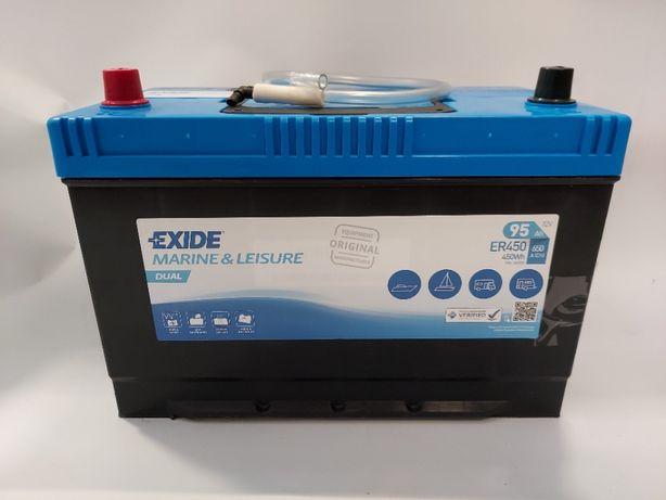 Akumulator do łodzi 12v 95Ah 650A 450Wh Exide Dual ER450