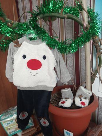 Новогодний костюм с оленёнком для мальчика