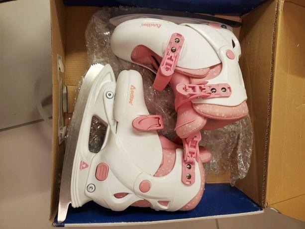 ACTIVE Łyżwy dziewczęce z butami regulowany rozm. 32 do 35