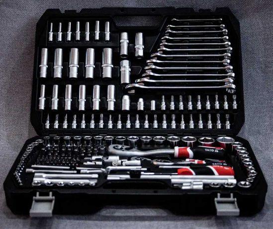 Профессиональный набор инструментов 216 yato из  хромованадиевой стали
