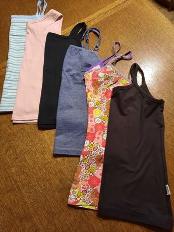 FIRMOWE bluzki koszulki topy na ramiączkach r.36-38