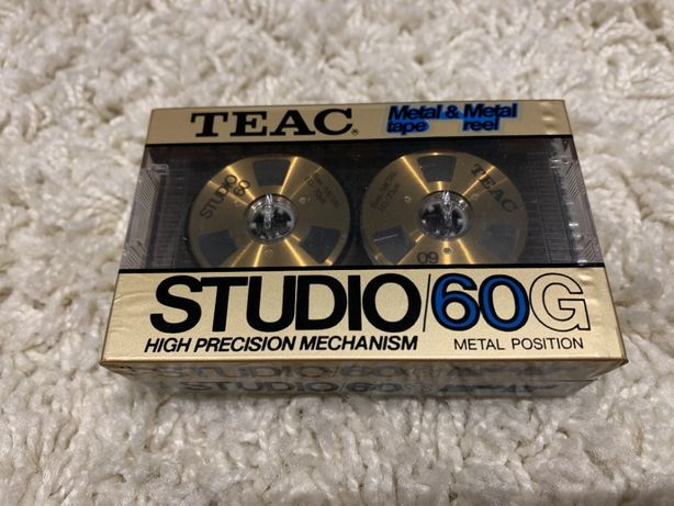 Kaseta magnetofonowa TEAC Studio 60 Metal GOLD z metalowymi rolkami