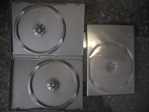 6 Caixas de DVD's/CD's duplas novas