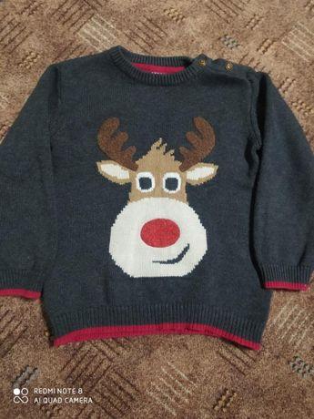 Фирменный новогодний свитер Smil