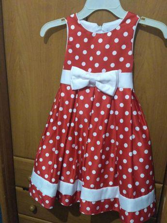 Красивое нарядное платье на девочку 6 лет, рост до 125