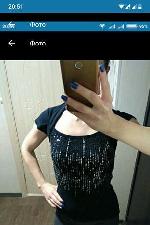 Кофточка/футболка с паетками
