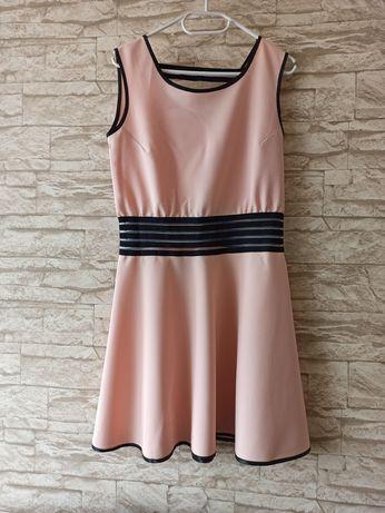 Sukienka pudrowy róż M handmade