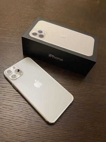 Iphone 11Pro Silver, bateria 100% oryginał! Stan idealny, gwarancja!