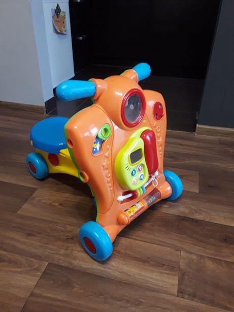 Pchacz interaktywny 2w1 firmy BABY WALKER